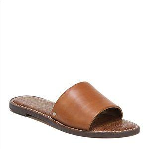 Sam Edelman GIO Brown Leather Slide Sandals 7.5